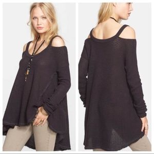 Free People Sweaters - Free People charcoal moonshine v neck pullover
